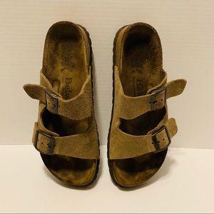 Betula Birkenstock 2 Strap Suede Sandals Size 7